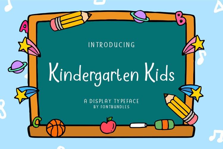 Web Font Kindergarten Kids example image 1