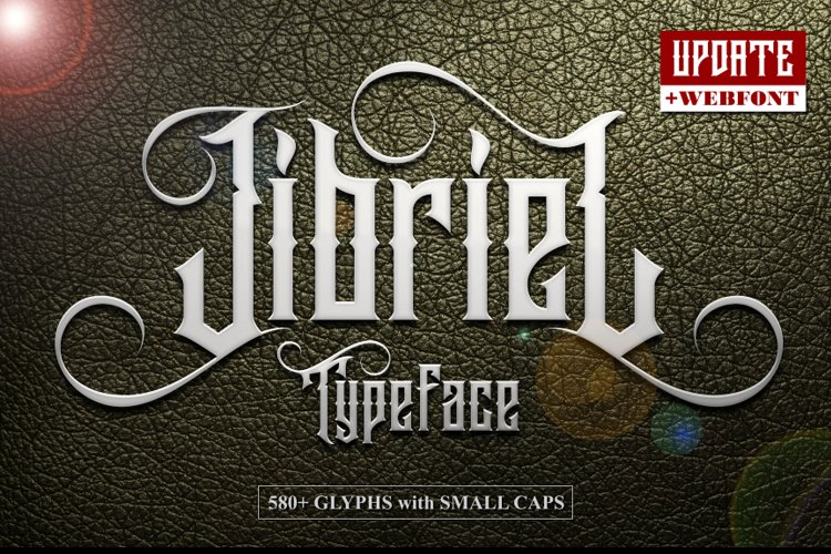 Jibriel Typeface with Small Caps example image 1
