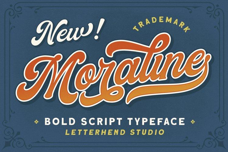 Moraline - Bold Script Typeface example image 1