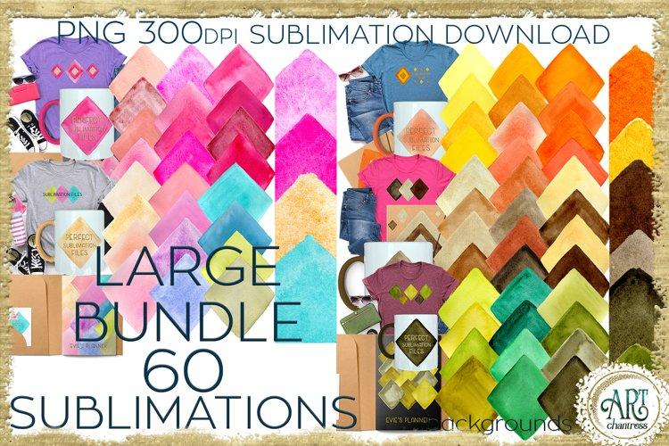 Sublimation Large BUNDLE 1 PNG 60 Watercolours backgrounds