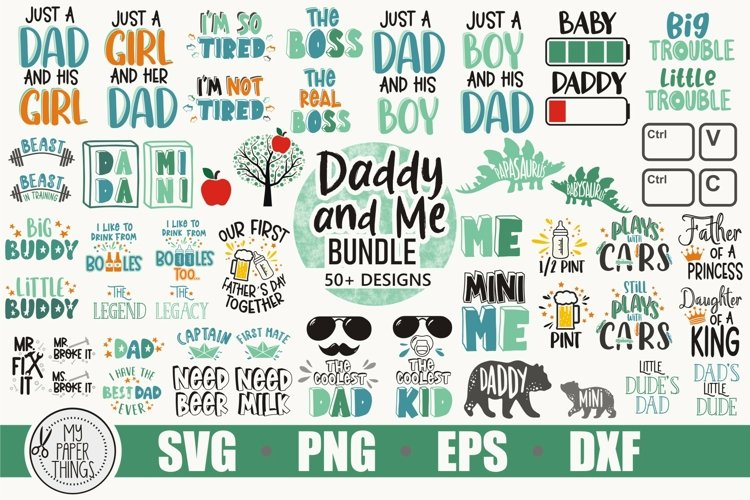 Daddy and me svg bundle| Dad and Baby svg | Fathers day svg