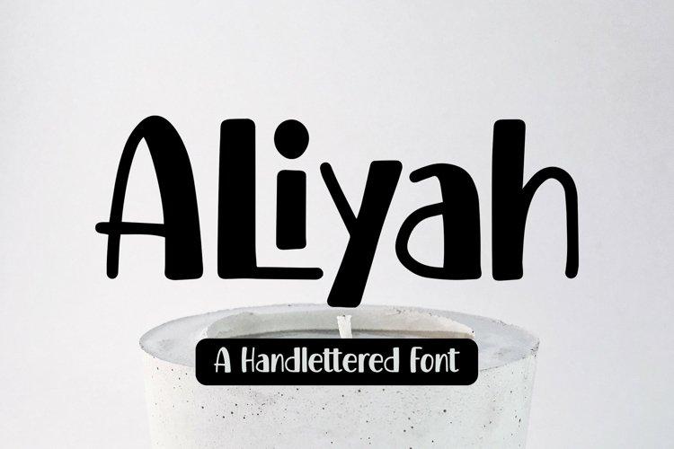 Web Font Aliyah - Handlettered Font example image 1