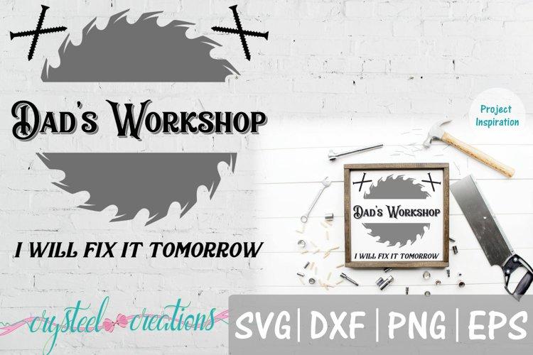 Dads Workshop 12x12 SVG, DXF, PNG, EPS