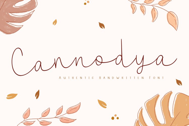 Cannodya   Handwritten Monoline Web Font example image 1