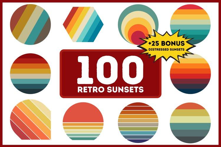100 Retro Sunsets Pack