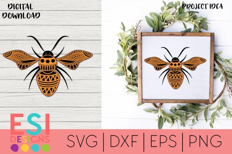 Multi Layered Mandala 3D SVG | Bee SVG | Paper Cutting Craft