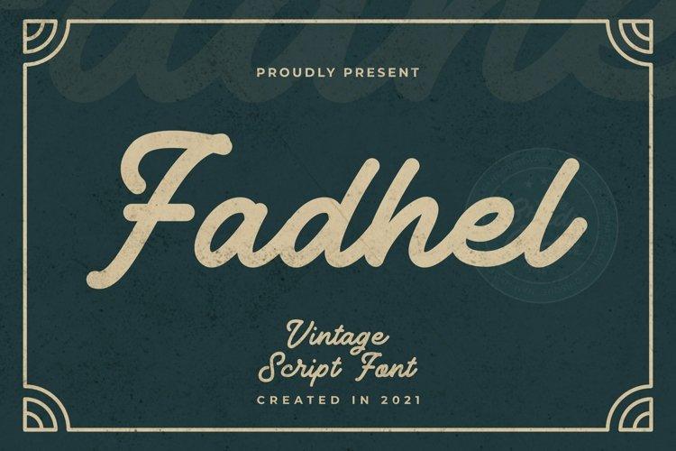 Web Font Fadhel Font example image 1