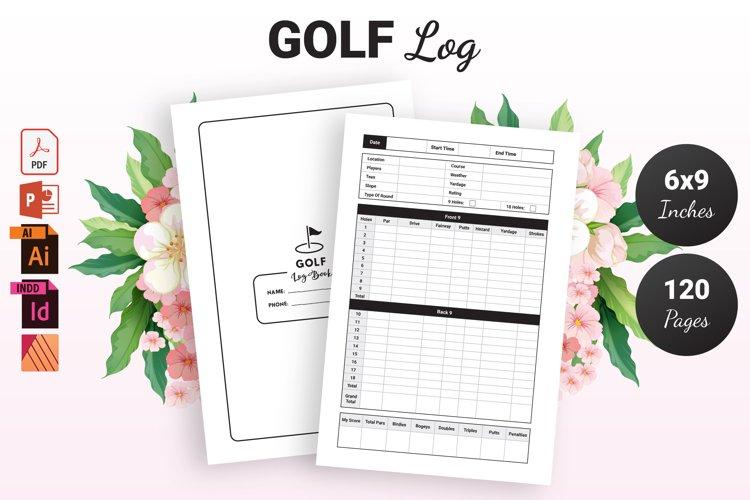 Golf Log Book - KDP Interior