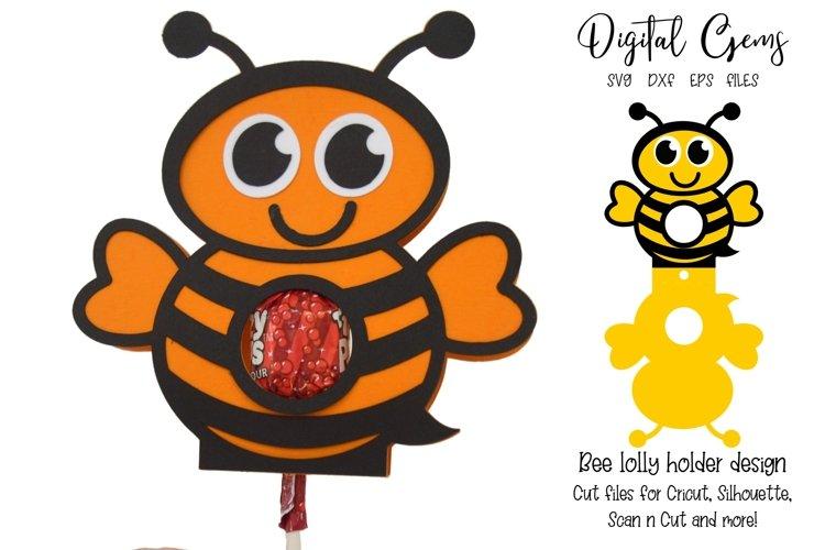 Bee Lollipop / Sucker holder design SVG / DXF / EPS
