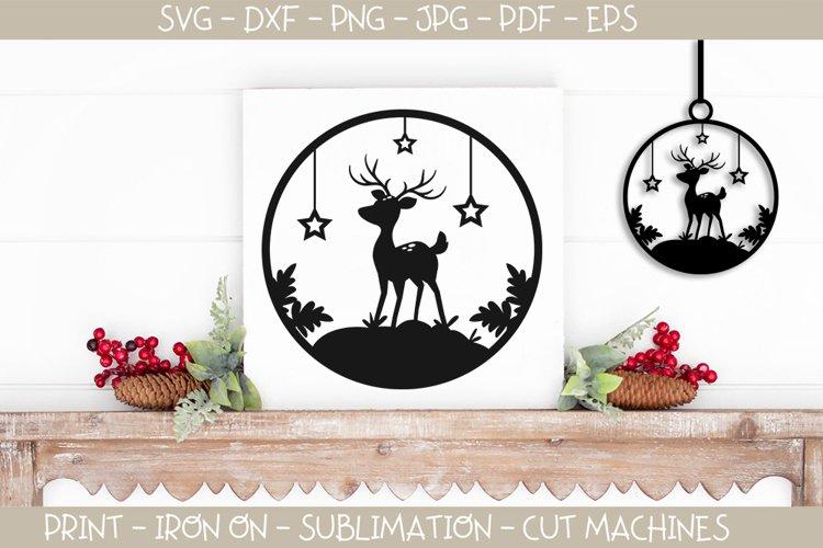 Christmas Ornament Reindeer SVG