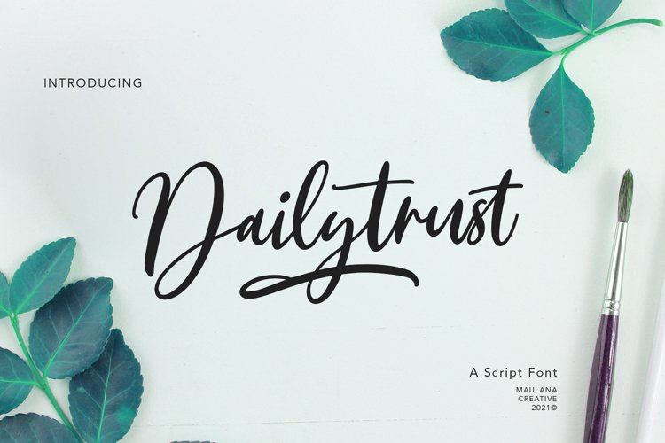 Dailytrust Script Font example image 1