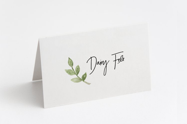 PRINTABLE Dairy Free Tent Fold Sign example image 1