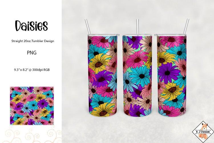 Daisy Tumbler Sublimation Design