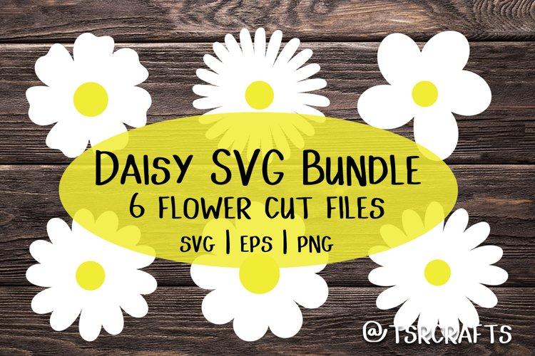 Daisy SVG Bundle / Flower SVG EPS cut files and png clip art