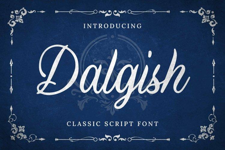 Web Font Dalgish Font example image 1