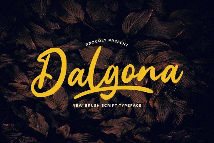 Web Font Dalgona example image 1