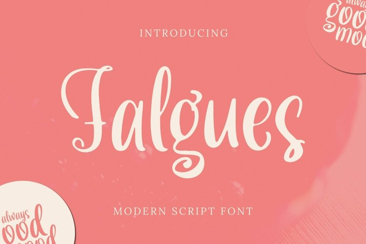 Web Font Falgues Font example image 1
