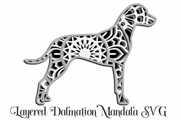 Dalmation Mandala Layered SVG - Paper Cutting - 4 Layers example image 1