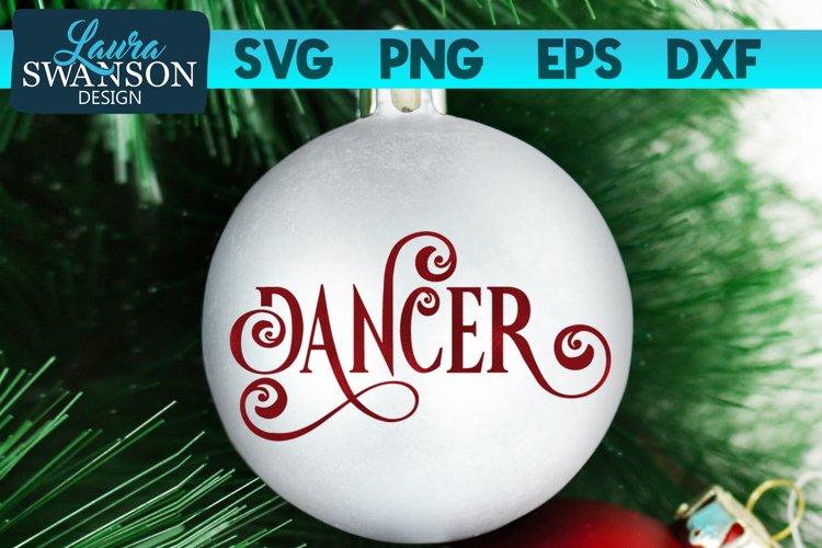 Reindeer Dancer SVG Cut File | Christmas Ornament SVG example image 1