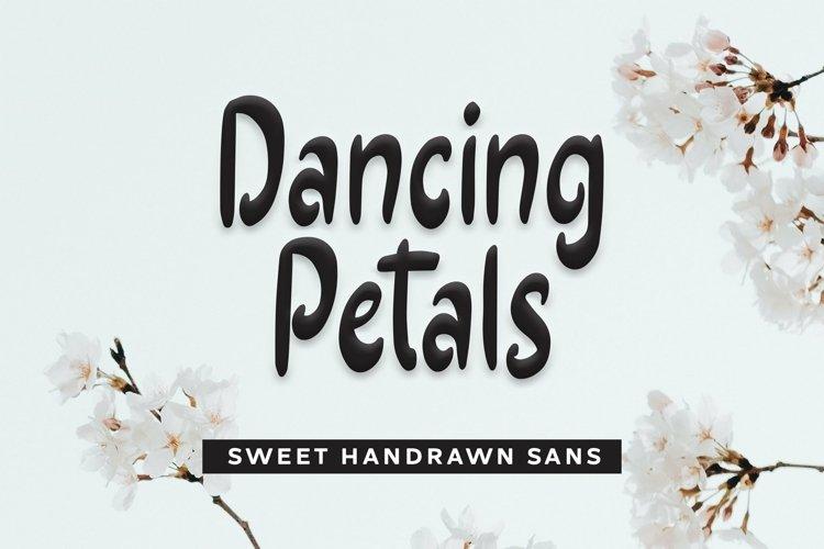 Web Font Dancing Petals - Sweet Handrawn Sans Font