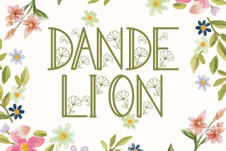 Dandelion Monogram example image 1