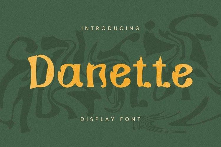 Web Font Danette Font example image 1