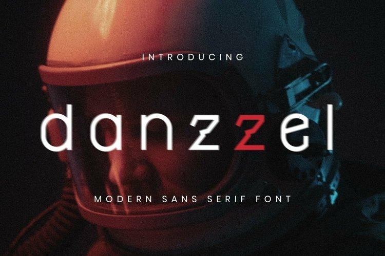 Web Font Danzzel Font example image 1