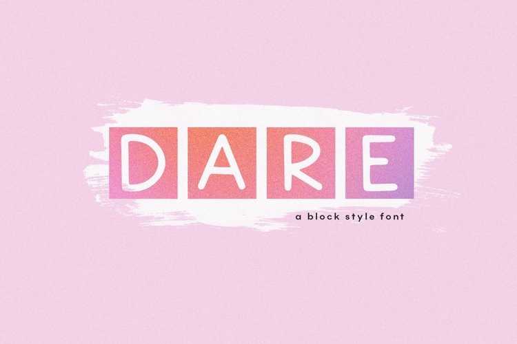 Web Font Dare - Block Style Display Font example image 1