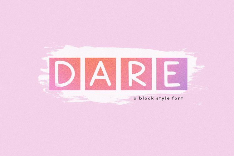 Dare - Block Style Display Font