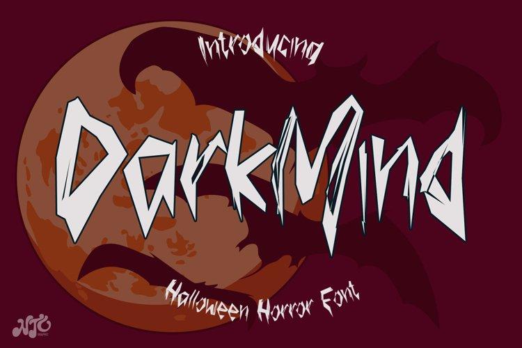 Dark Mind - Halloween Horror Font example image 1