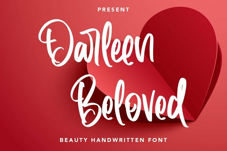 Web Font Darleen Beloved - Beauty Handwritten Font