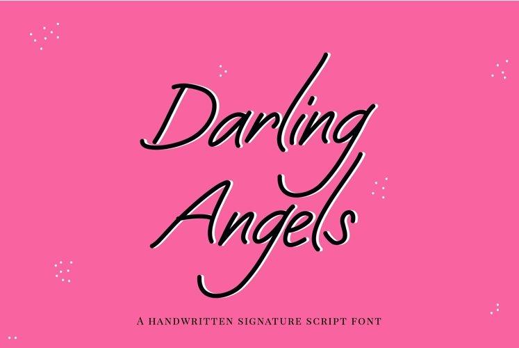 Web Font Darling Angels - a handwritten signature font example image 1