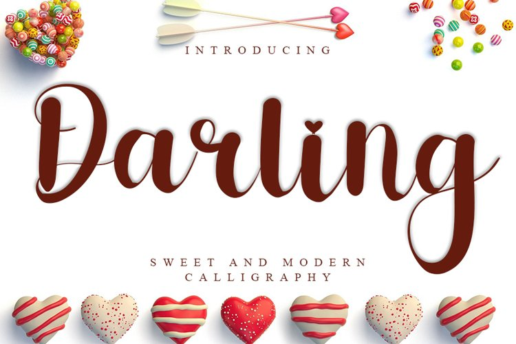 Darling - Sweet & Modern Calligraphy Font example image 1
