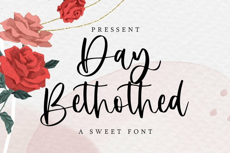 Web Font Day Bethothed - A Sweet Font example image 1