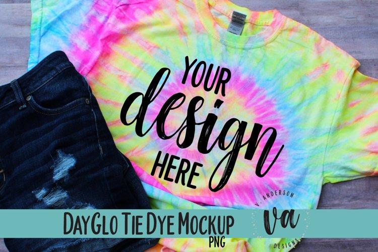 DayGlo Tie Dye Mockup