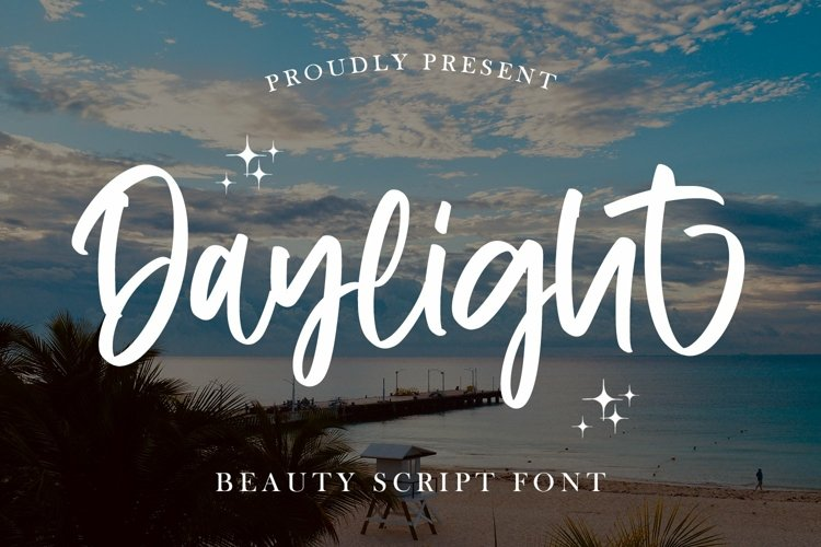Web Font Daylight - Beauty Script Font example image 1