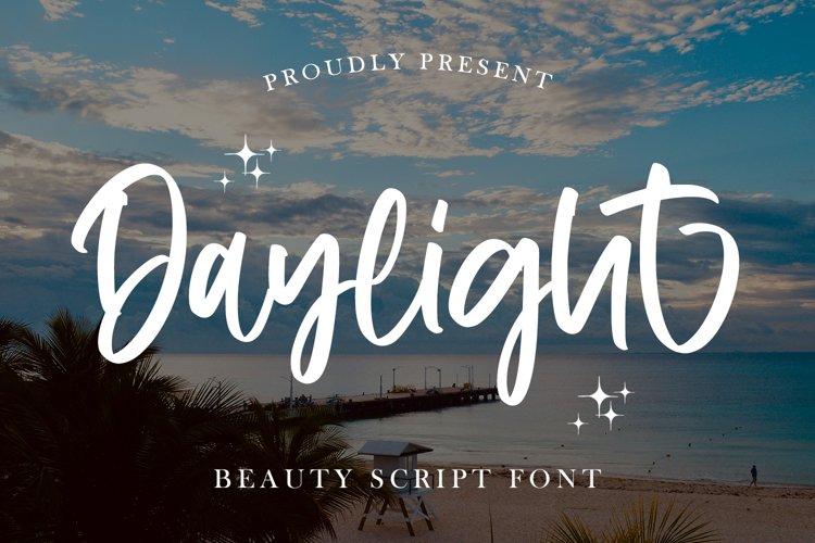 Daylight - Beauty Script Font example image 1