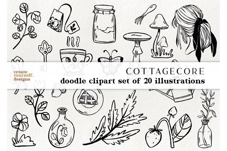20 cottagecore elements - boho clipart, gardening graphics