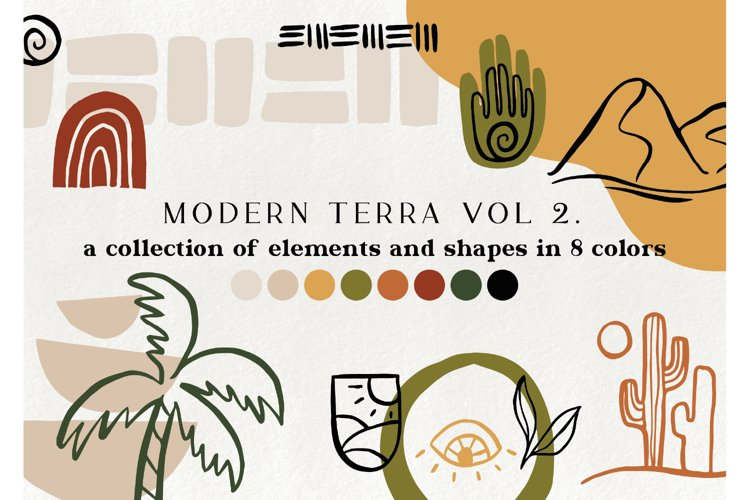 120 modern abstract design elements - geometric clipart