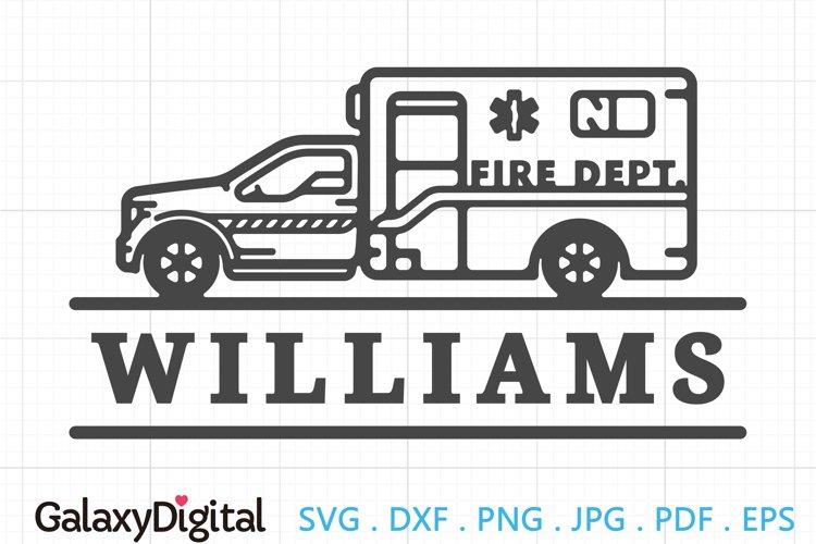 Simple Fire Rescue SVG, Fire Dept Monogram SVG -105157