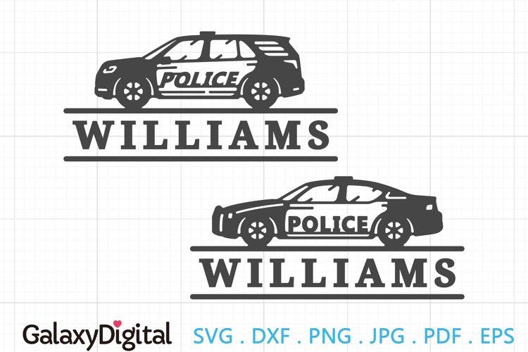 Simple Police Car SVG, Police Car Monogram SVG -105156