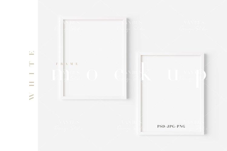 11X14 White Frame Mockup/ JPG PNG PSD Smart Object/M490