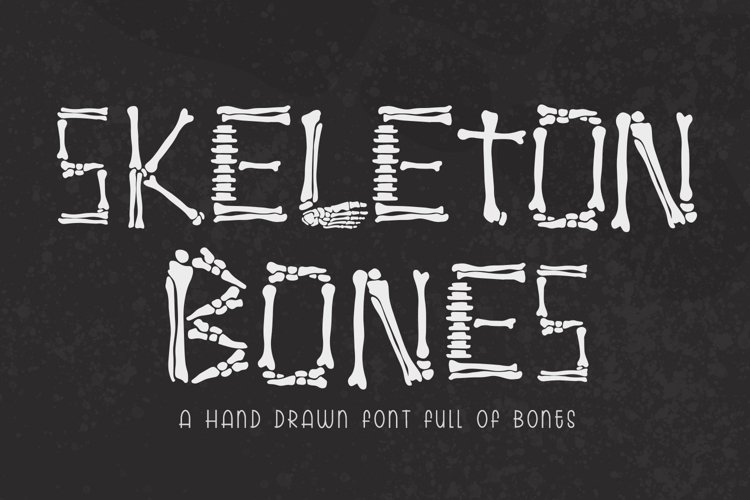 Skeleton Bones - a hand lettered font full of bones example image 1
