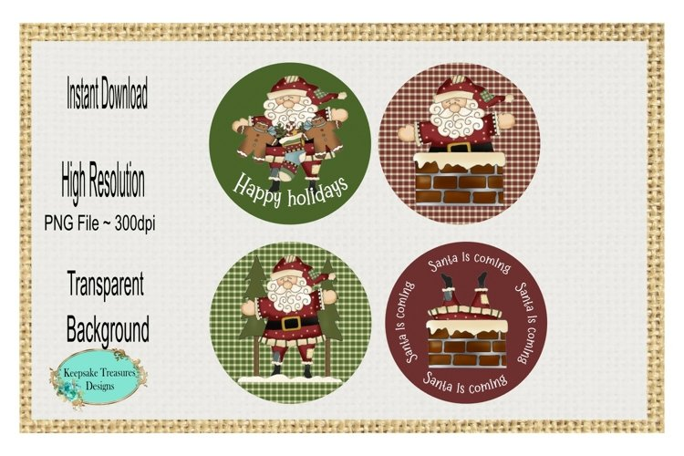 Santa Is Coming, Whimsical Ornaments, Sublimation PNG