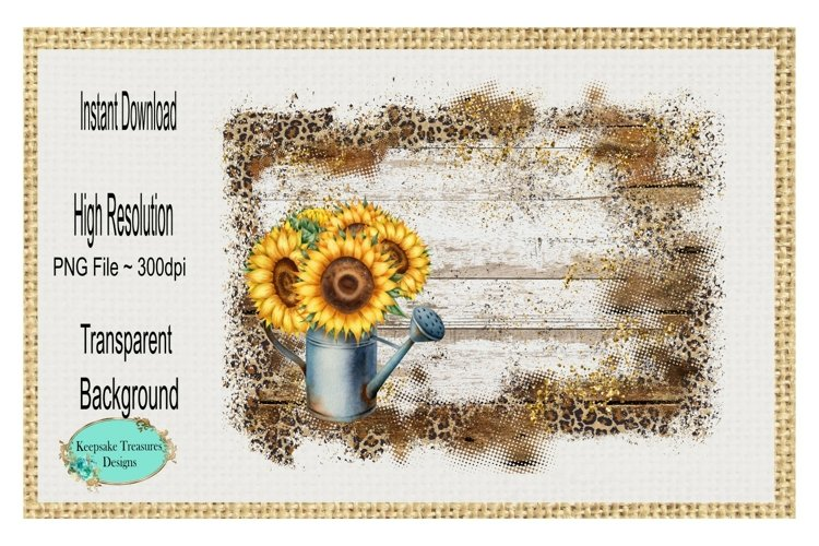Sunflower Watering Can, Background Element example image 1