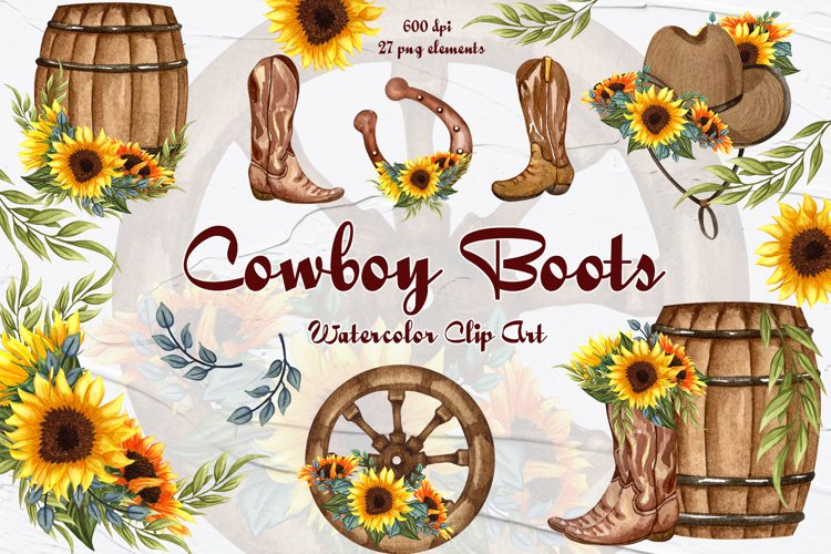 Cowboy Boots Clipart