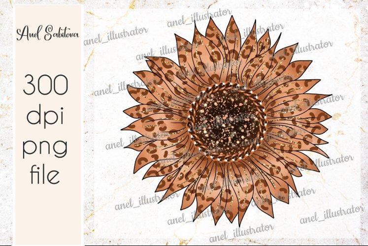 Leopard sunflower PNG Sublimation