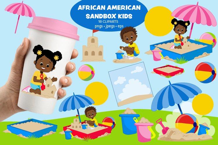 African American Kids, Playground, Sandbox kids