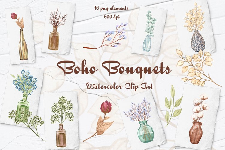 Dried Flowers Clipart example image 1