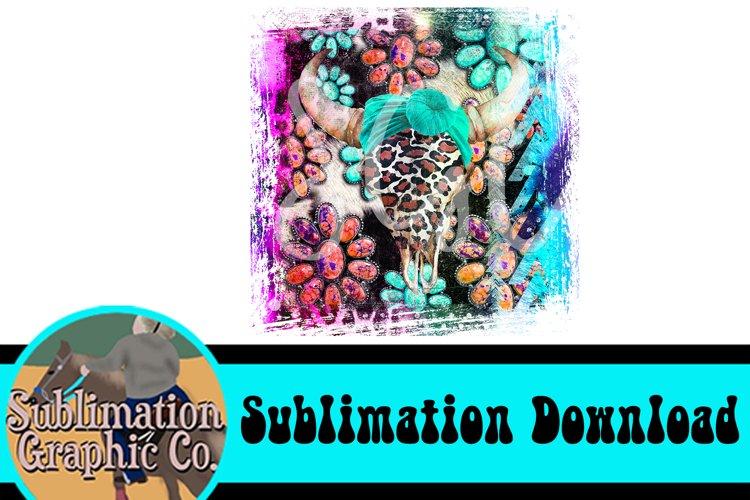 Western Steer Skull Sublimation Digital Download